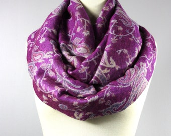 Radiant Orchid scarf,  infinity orchid scarf,  pashmina orchid scarf, orchid scarfs