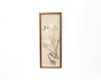 Framed Chinese Silk Embroidery of Birds