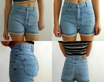 Vintage High Waisted Denim/Jean Shorts Chazzz by Charles Ghailian Women's Vintage size 9