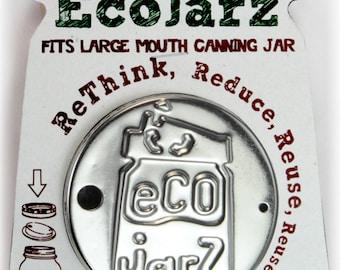 EcoJarz Wide Mouth Stainless Steel Drinktop