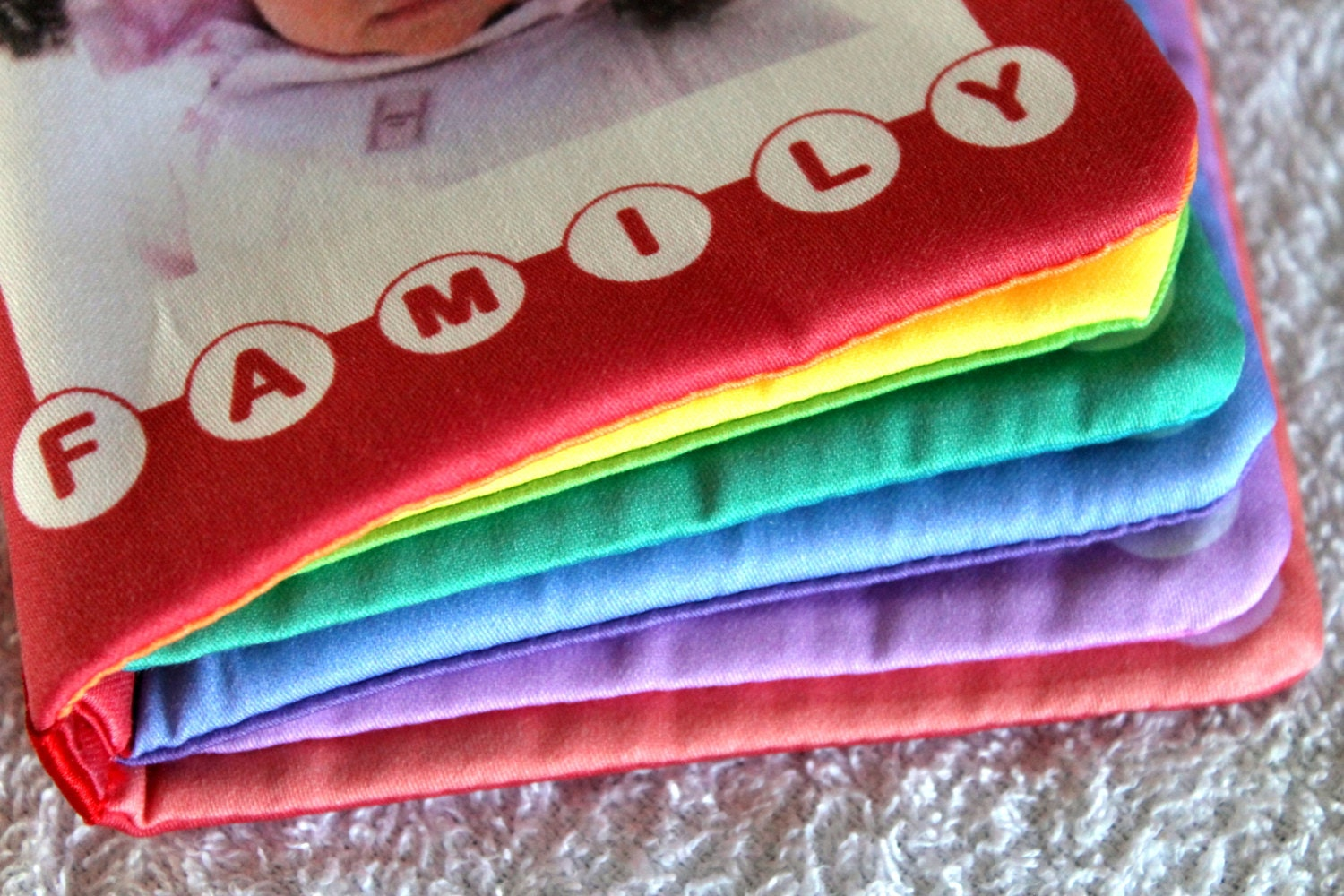 any four rainbow cotton cloth baby books with by www