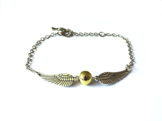 Golden Snitch Harry Potter Bracelet - Golden Snitch bracelet for book lovers