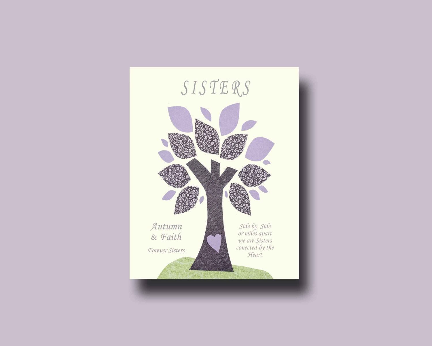 Wedding Gift For Sister : Sisters Gift Print Personalized Gift for Sister Wedding