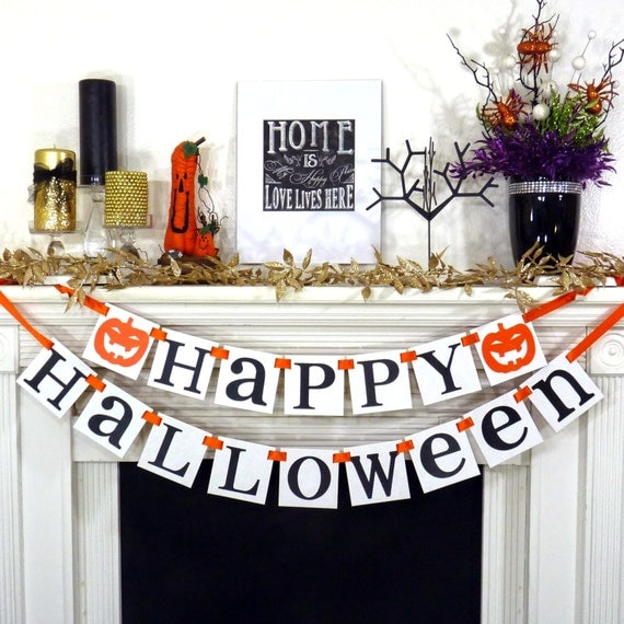 Happy Halloween Tips On Home Decoration 1: Halloween Banner Happy Halloween Decoration Trick