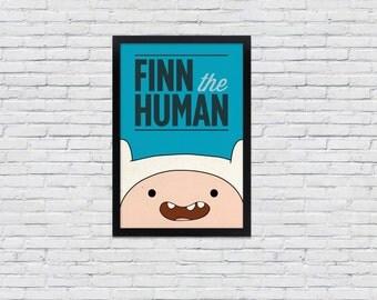 Adventure Time Poster  / Finn the Human / 12 x 18  TV Print