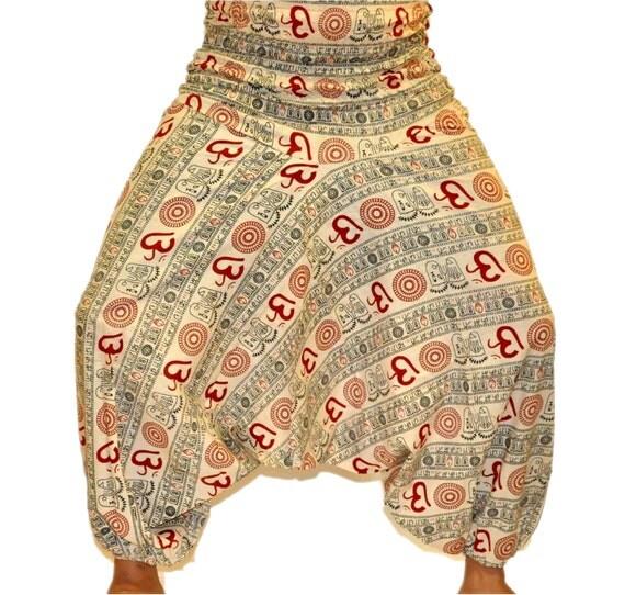 Items Similar To Indian OM Harem Pants, Women Yoga Pants