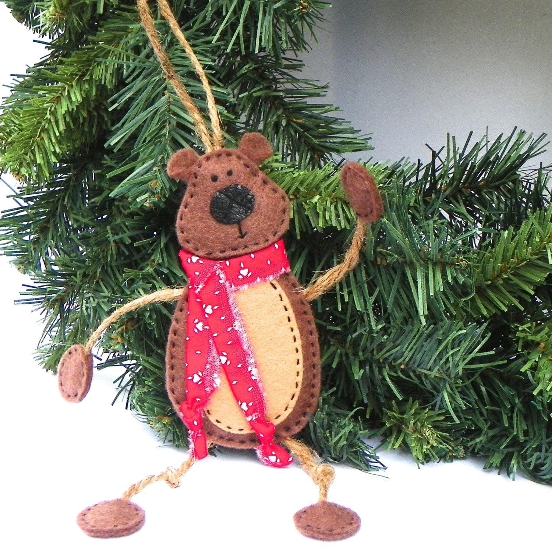 Bear Ornament Teddy Bear Christmas Ornament Mr. Bear