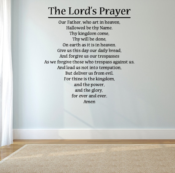 The Lord S Love Wall Decal: The Lord's Prayer Religious Wall Decal 20 X 21 By