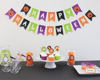 INSTANT DOWNLOAD - Halloween Party Package - Happy Halloween Kit