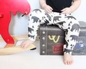 Organic Baby Leggings Bear - Made to Order