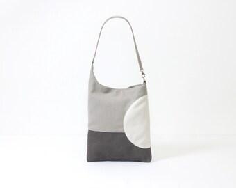 faux leather gray computer bag holiday clothing minimalist modern fashion bag