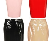 Red PVC Pencil Skirt  SALE Price 60% OFF
