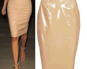Nude PVC Vinyl Pencil Skirt  SALE Price 60% OFFvarious colours available