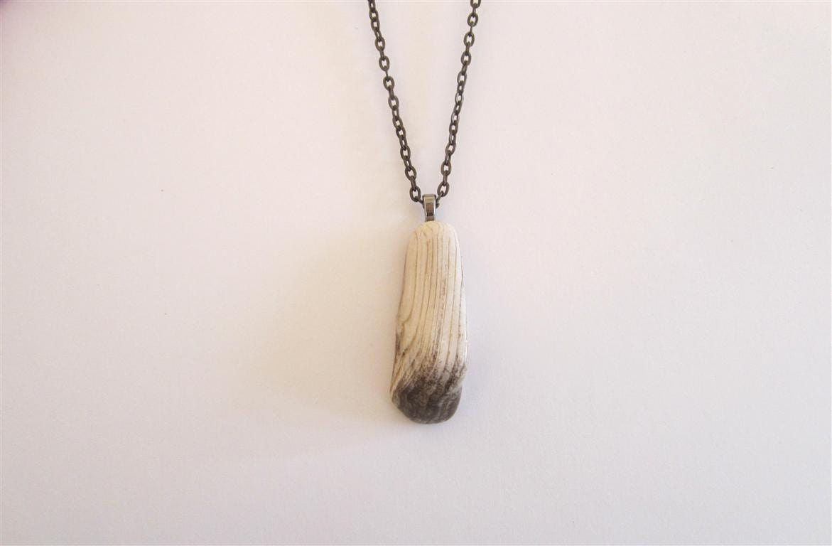 petrified wood necklace pendant organic jewelry rock