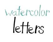 Watercolor Letters Font Typeface Serifs Type Letter Watercolors Texture Unique handmade lettering calligraphy
