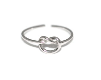 Silver Knot Toe Ring - Sterling Silver Knot Toe Ring