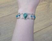 20% OFF SALE Beautiful Dainty Vintage Blue Stone Bracelet