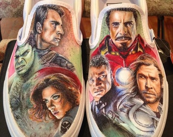 Hand-Painted Avengers Shoes