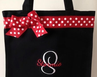 Red Polka Dot Monogrammed Dance Bag Personalized With Any Name