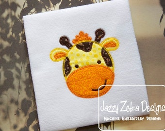 Giraffe Appliqué embroidery Design with Diagonal Square Stitching - giraffe appliqué design - baby appliqué design - zoo appliqué design