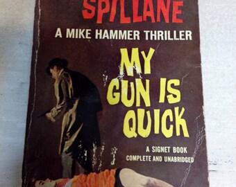 My Gun Is Quick by Mickey Spillane, 1950 First Edition Pulp Fiction, Vintage Thriller
