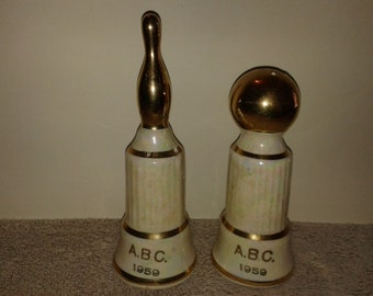 1959 A.B.C. Bowling Salt and Pepper Shakers - St. Louis, MO