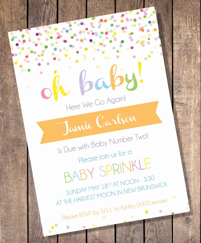 custom sprinkle baby shower invitation digital print