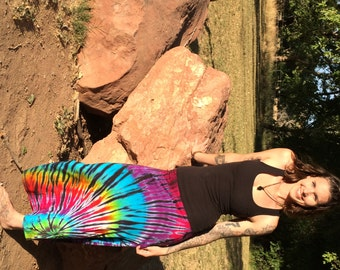 Big Love Rayon Tie-Dye Maxi-Skirt and Strapless Dress Made-To-Order Custom Design