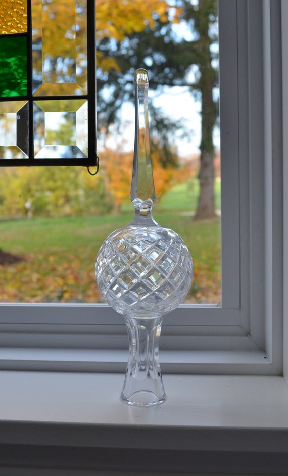 Waterford Cut Crystal Tree Topper Christmas Ornament