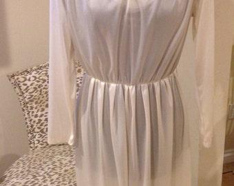 Vintage 1970's White Boogie Nights Queen Dress
