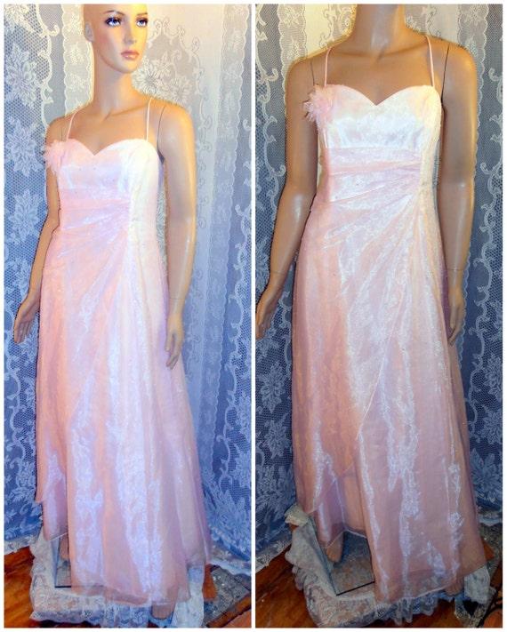 Items similar to prom dress pink dress wedding semi for Semi formal wedding dresses plus size