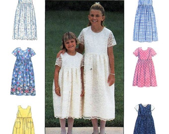 Simplicity 8030 6 Made Easy Sewing Pattern  Girls Dress  Size KK 7-8-10-12  Used