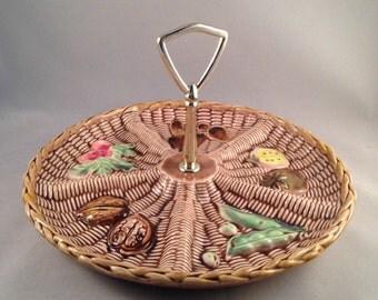 Vintage Tilso Vegetable Design Relish Serving Tray