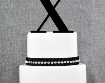 Letter X - Initial Cake Topper, Monogram Wedding Cake Topper, Custom Cake Topper