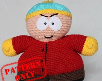 PATTERN ONLY! Eric Cartman South Park crochet pattern