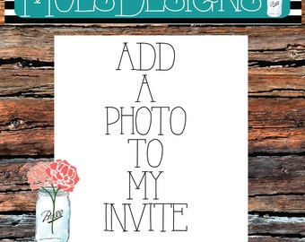 ADD A PHOTO To My Invitation Add On Listing