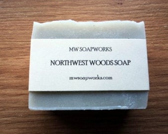 Northwest Woods Soap // Earthy Essential Oil Cold Process Soap // Luxury Bath Soap