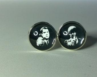 Pulp Fiction , Glass domed Cufflinks