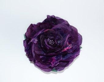 Black brooch silk hairpin chrysanthemum flower silk ready to brooch silk flower brooch purple silk roses ready to ship mightylinksfo