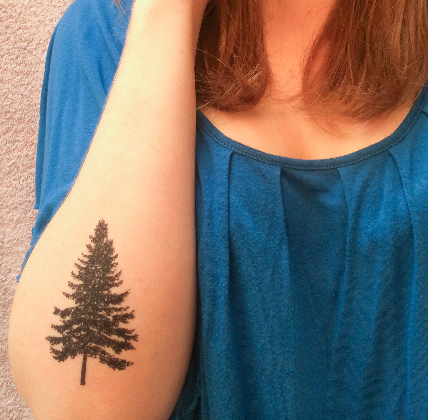 Pine Tree Hand Tattoo 2 Pine Tree Temporary Tattoos