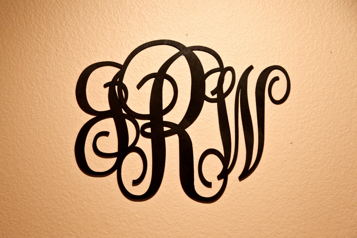 Personalized Wood Wall Decor : Personalized monogram wood wall decor weddings by cabanyco