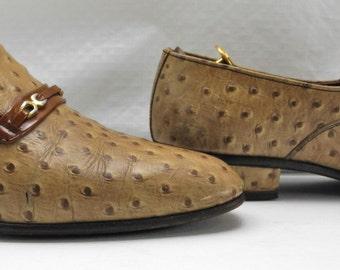 Vintage Nunn Bush Ostrich Loafers-Embossed? - Men's Dress Shoes - 8D