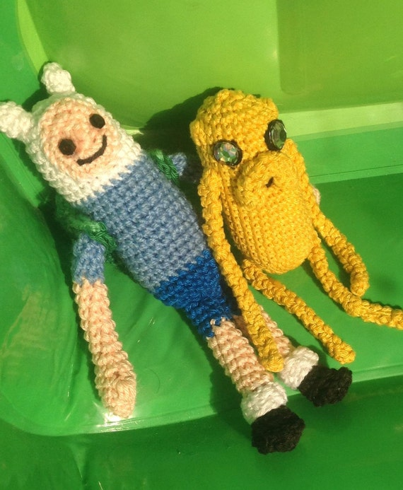 Amigurumi Beemo : Finn and Jake / Adventure Time Amigurumi Pattern/ Finn the