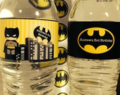 Batman Party PRINTABLE Water Labels by Love this Moment!