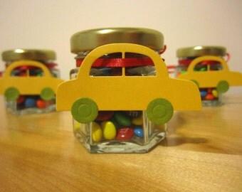 Baby Shower Favor Jars DIY, Car Tag, Wedding, Bridal Shower, Engagement, 24 Do-It-Yourself Empty Glass Jar Favours, 1.5 oz, Do it Yourself