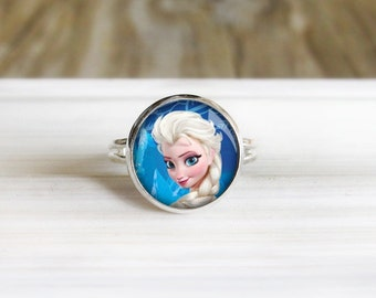 Ice Princess Ring-  Silver Adjustable Ring