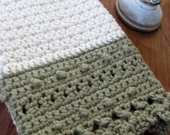Vieux Carré Towel Crochet Pattern // Finger, hand, or bath towel size // Housewarming gifts // Wedding gifts
