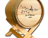 SALE Personalized Wedding Card Barrel- Wine Themed Wedding Barrel- Card Holder Barrel- Design Your Own Wedding Card Barrel- Custom to Order
