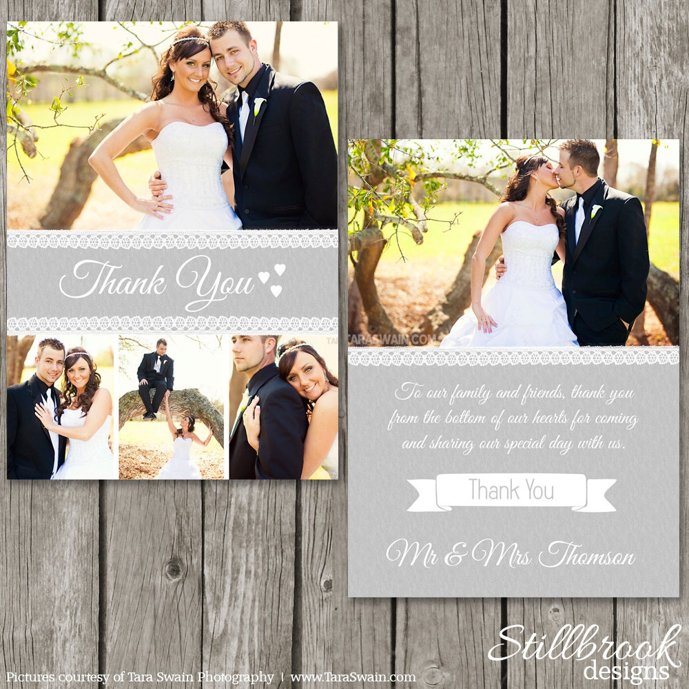 Thank You Wedding: Thank You Card Wedding Thank You Template Photoshop Photo
