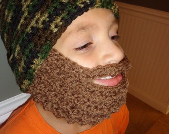 Beard Attachment For Any Hat! Beard with mustache hat attaches with either ear loops or buttons that connect to any of my hats!